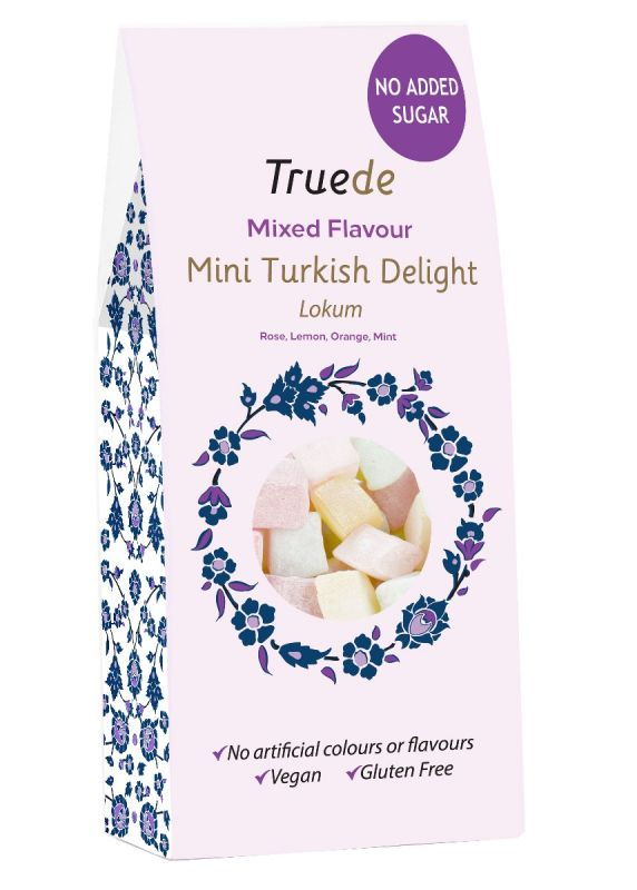 No Added Sugar Mini Mixed Flavour (Rose,Lemon,Orange,Mint)Turkish Delight 150g x 15
