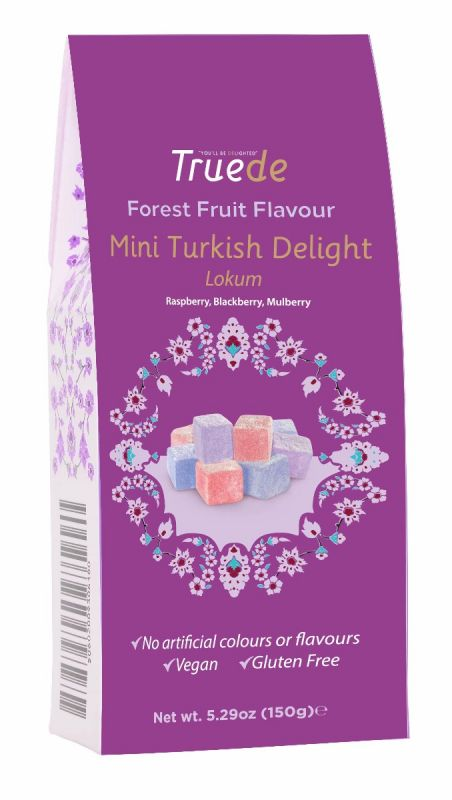 Mini Forest Fruit (Raspberry, Blackberry, Mulberry) flavoured Turkish Delight 150g x 15