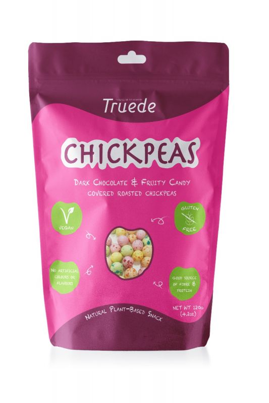 Dark Chocolate Fruity Candy Covered Roasted Chickpeas 120g x 6