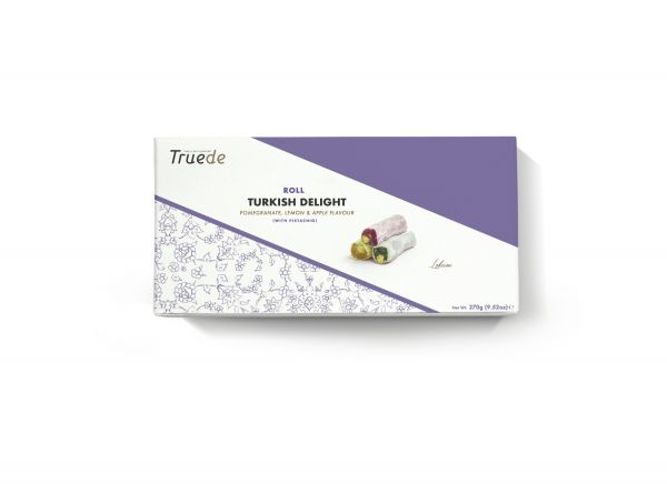 Turkish Delight Coconut Covered Roll (Pomegranate, Lemon & Apple flavours) 270g x 12