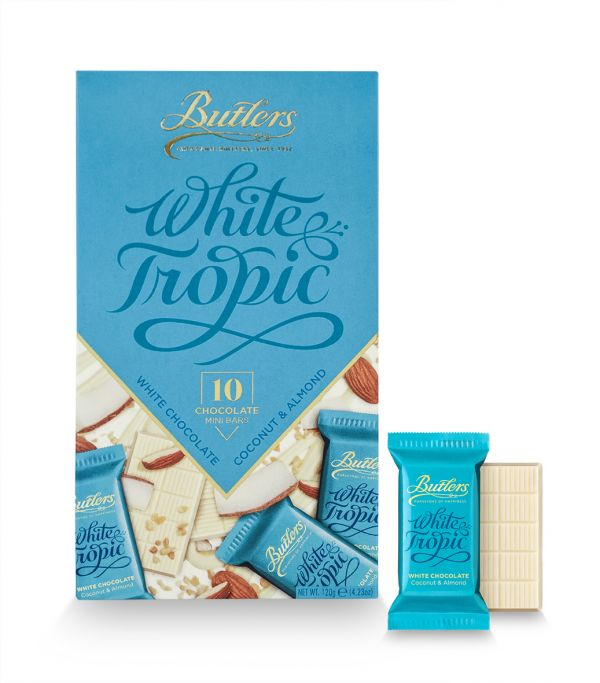 White Coconut & Almond Mini Bar Pack 125g x 12