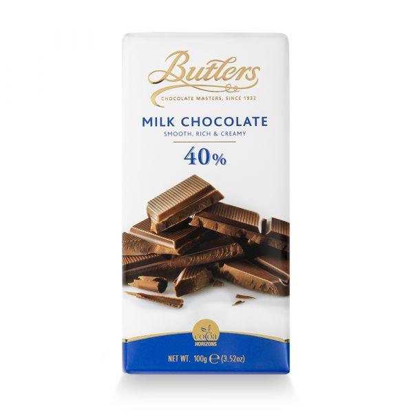 Butlers 40% Milk Chocolate Bar 100g x 18