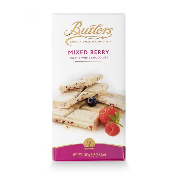Butlers White Chocolate Bar with Mixed Berries 100g x 18