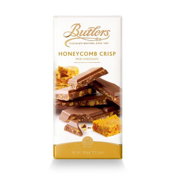 Butlers Milk Chocolate Bar with Honeycomb Crisp 100g x 18