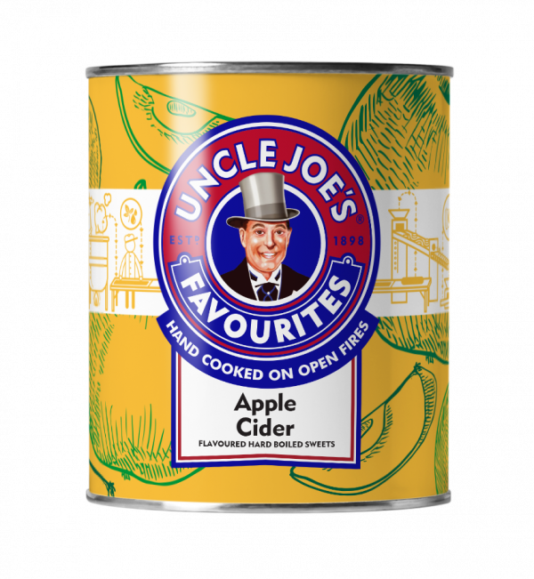 Uncle Joes Apple Cider Gift Tin 120g x 6