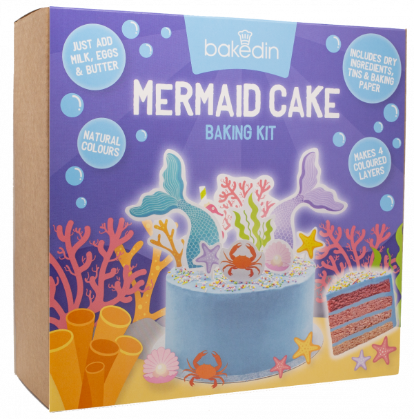 Mermaid Cake Baking Kit 975g x 6