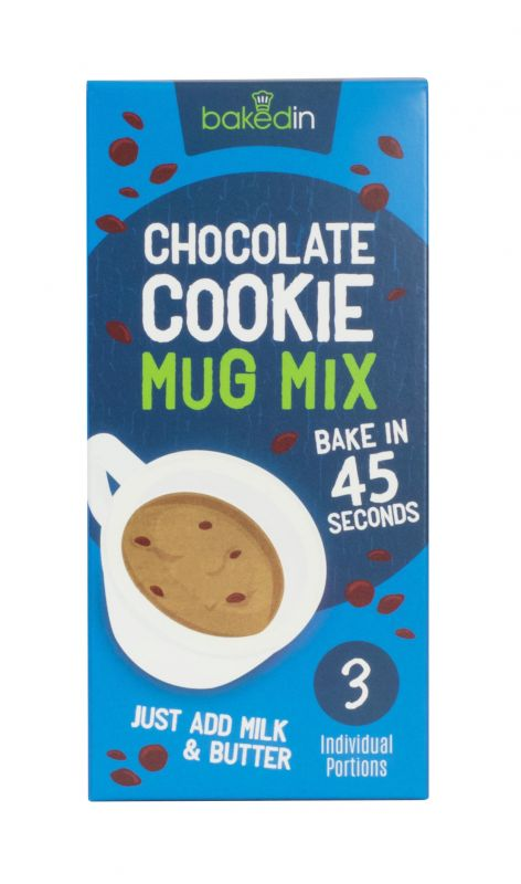 Bakedin Gooey Chocolate Chip Mug Cookie Mix (3  Sachets) 180g x 8 Zero VAT