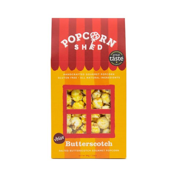 Butterscotch Popcorn Shed 80g x10