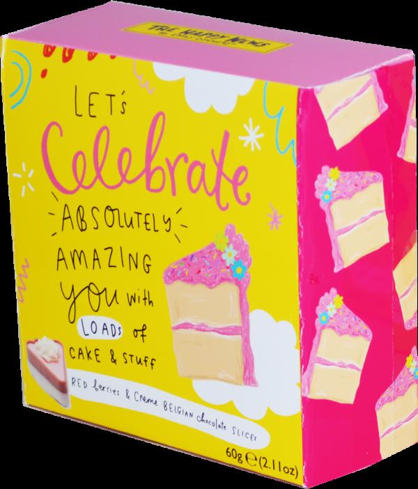 Happy News Giftbox (Cake slice shaped chocs) 60g x12