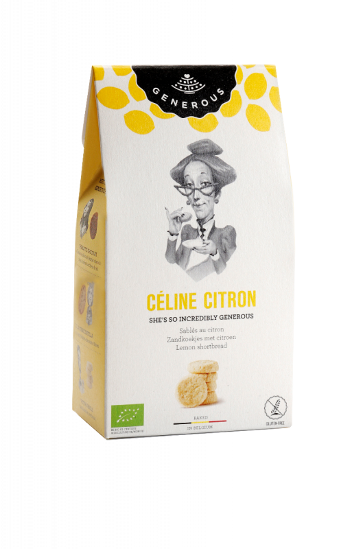 Celine Citron : lemon butter shortbread 120g x 8