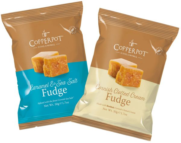 Caramel/Sea Salt 50g x 12 & Cornish Clotted Cream 50g x 12 - mixed case of 24