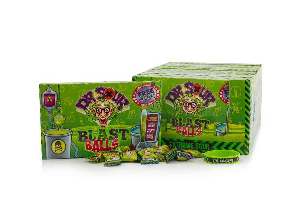 Dr.Sour - Blast Balls - Theatre Box 90g x 12 DATED 15.12.2021