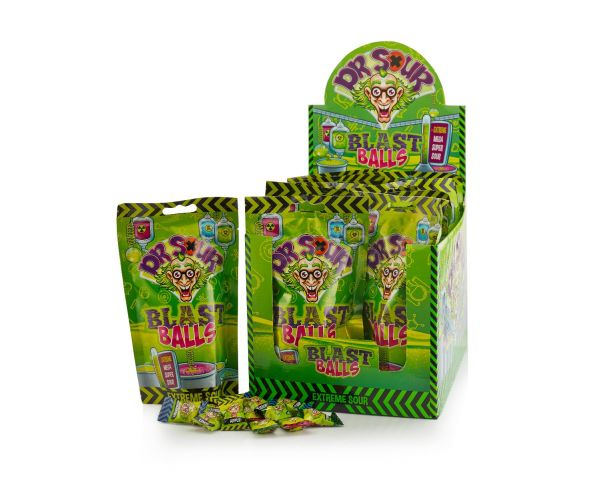 Dr. Sour - Blast Balls - Stand up bag 75g x 12