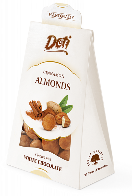 Almonds in White Chocolate and Cinnamon 100g x 10