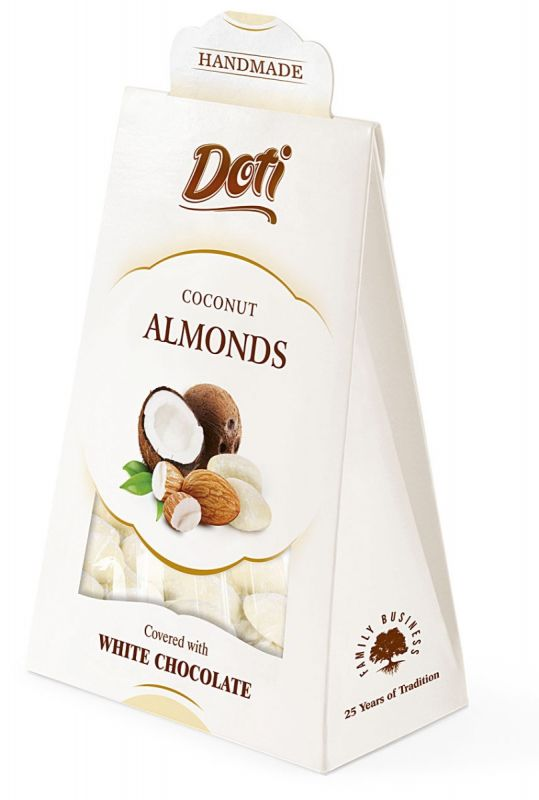 Almonds In White Chocolate and Coconut 100g x 10