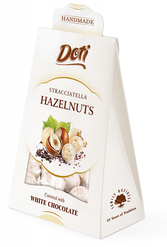 Stracciatella Hazelnuts in White Chocolate 100g x 10