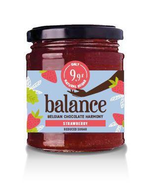 Balance No Added Sugar Strawberry Jam 220g x 6 Zero VAT