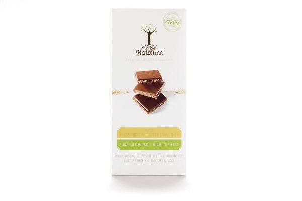 Balance Stevia Milk Chocolate with 3 Nuts Bar 85g x 12
