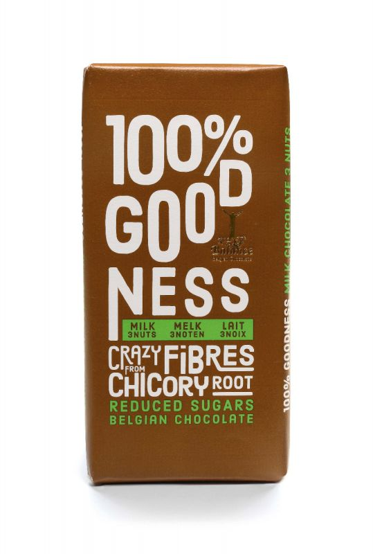 100% Goodness Milk, Pistachio, Almonds & Walnuts 85g x 12 DATED 30/09/2020