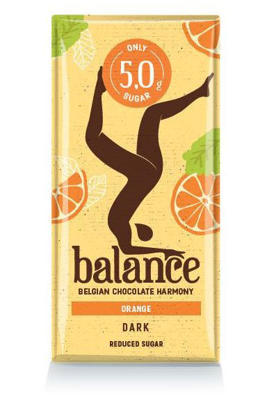 Balance Reduced Sugar Dark Orange Tablet 100g x 12
