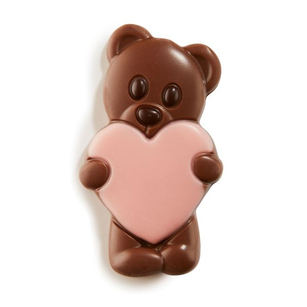 Lovely Bears Pink - Solid milk chocolate bears x 1.35Kg (+/- 108pc)