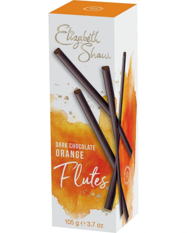 Dark Chocolate Orange Flutes 105g x 10