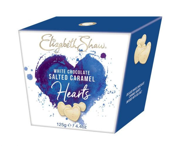 White Chocolate Caramel & Sea Salt Hearts 125g x 8