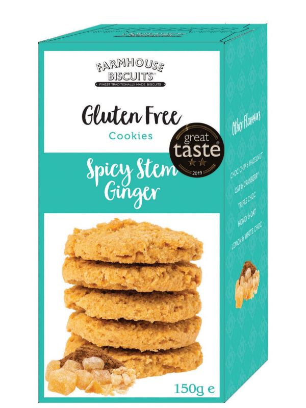 Gluten Free Spicy Stem Ginger 150g x 12 Zero VAT