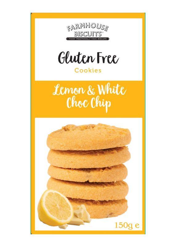 Gluten Free Lemon and White Chocolate Chip 150g x 12 Zero VAT