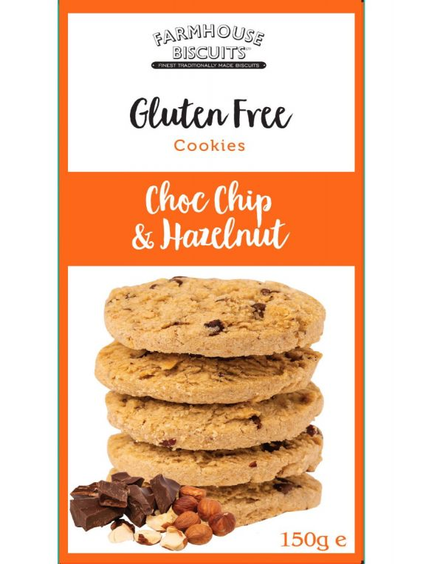Gluten Free Choc Chip & Hazelnut 150g x 12   Zero VAT
