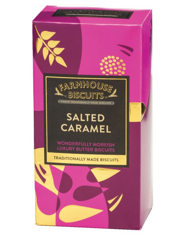 Luxury Salted Caramel Shortbread 150g x 12 Zero VAT