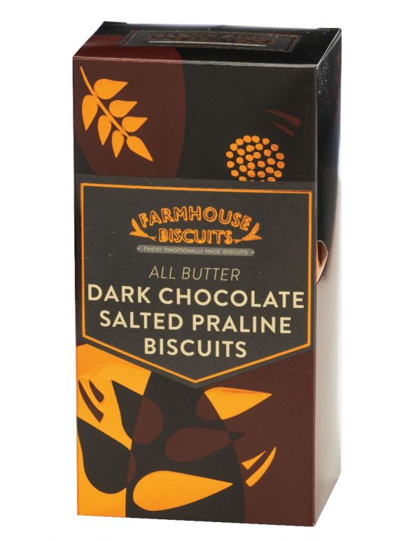 Luxury Half Dark Chocolate Coated Salted Praline Biscuits 150g x 12