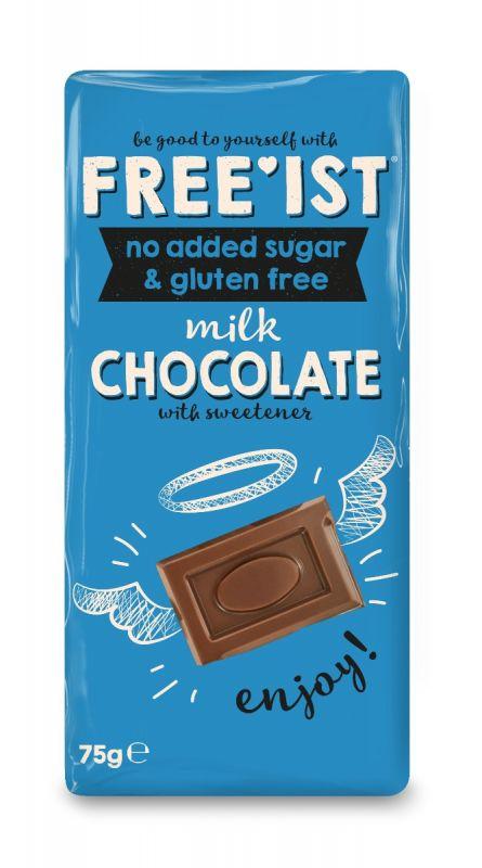 Free'ist Milk Chocolate  No Added Sugar 75g x 12