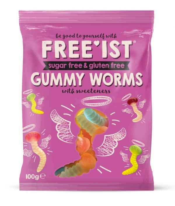 Free'ist - Sweet Worms Sugar Free 100g x 12