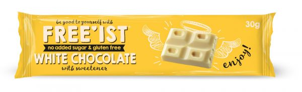 Free'ist Chocolate White No Added Sugar Mini Bar 30g x 30