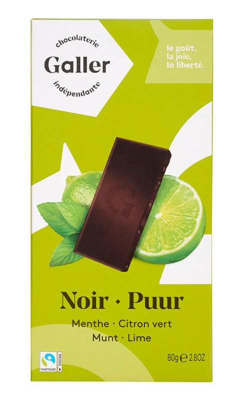 Dark Chocolate with Mint & Lime 80g x 20