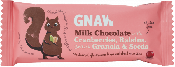Granola Bar Milk Choc with Cranberries, Raisins & Seeds 35g x 25