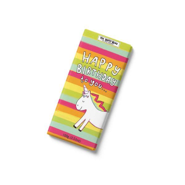 Happy News - Happy Birthday to You - Chocolate Bar 100g x 12
