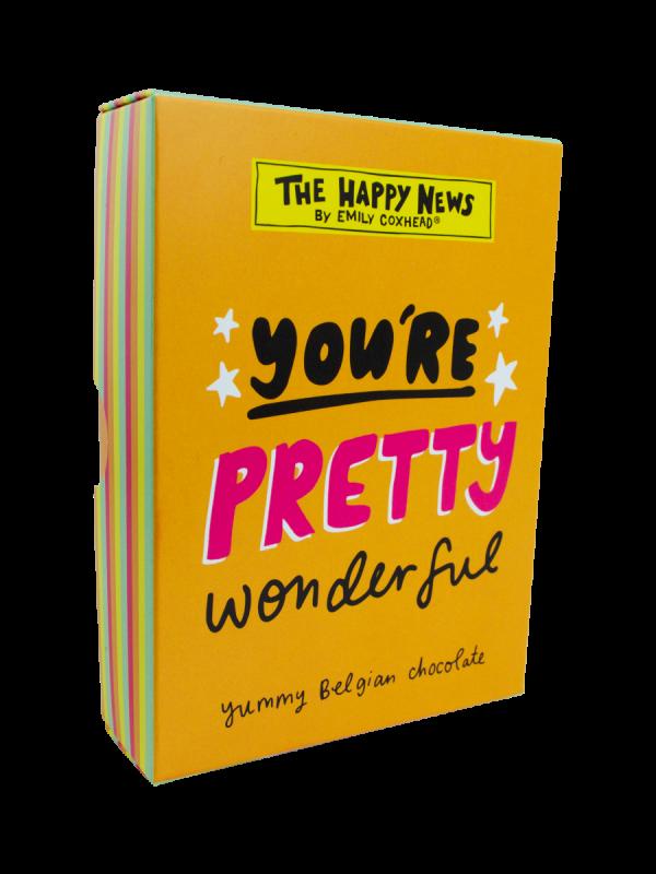 Happy News You're Pretty Wonderful Chocolate Box 86g x 12