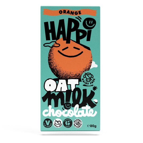 HAPPi Oat Mlk  Orange Chocolate 80g x 12