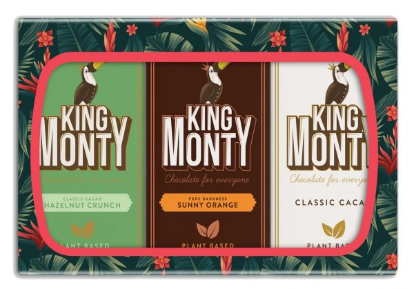 King Monty 3 Bar Gift Pack 270g x 10