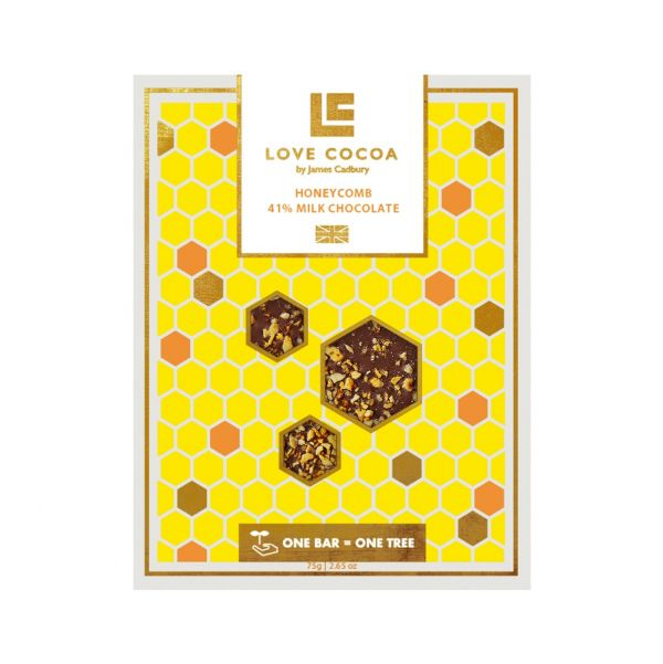 Honeycomb Milk Chocolate Bar 75g x 12