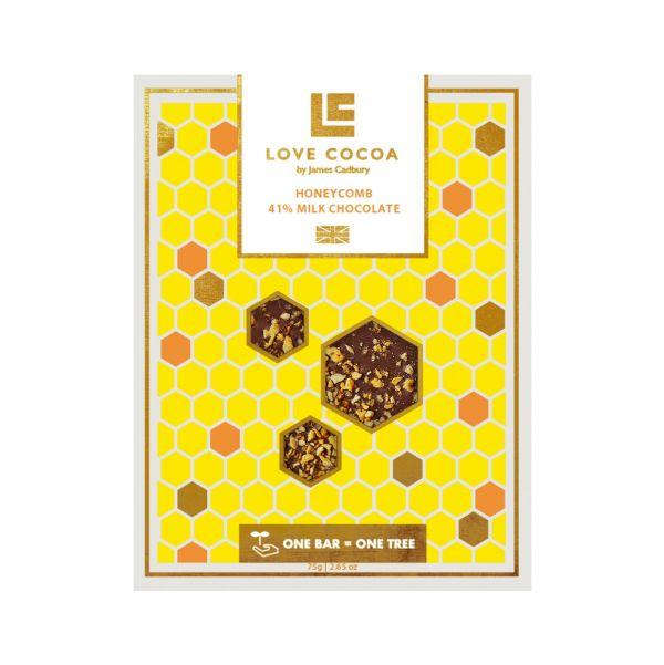 Honeycomb Milk Chocolate Bar 75g x 12