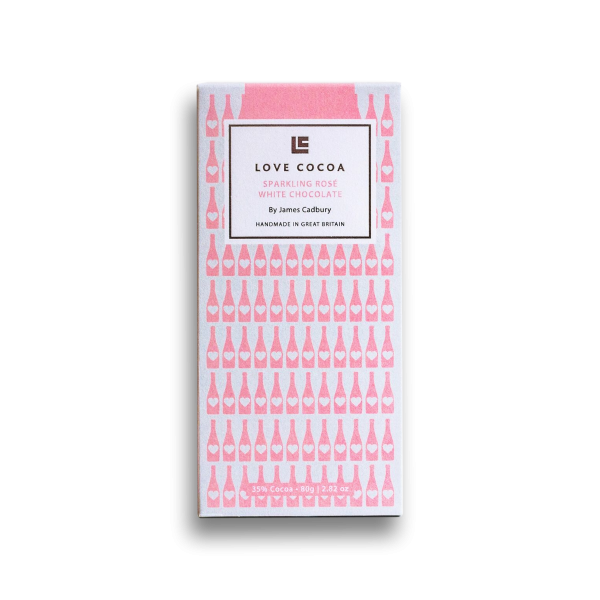 Sparkling Rosé White Chocolate Bar 80g x 12
