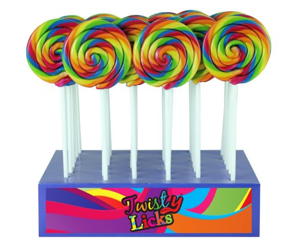Spiral Rainbow Lolly 50g x 36