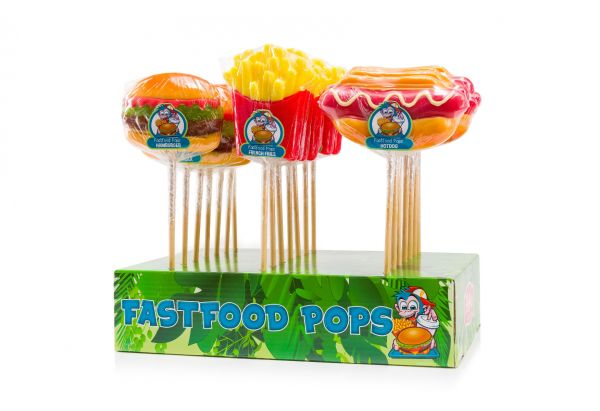 Fastfood Pops (Hamburger, French Fries, Hotdog) 100g x 21 SHORT DATED 15/7/2020