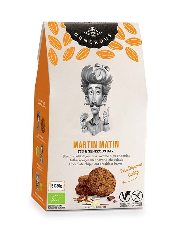 Martin Matin : chocolate chip & oat breakfast bakes 150g x 8