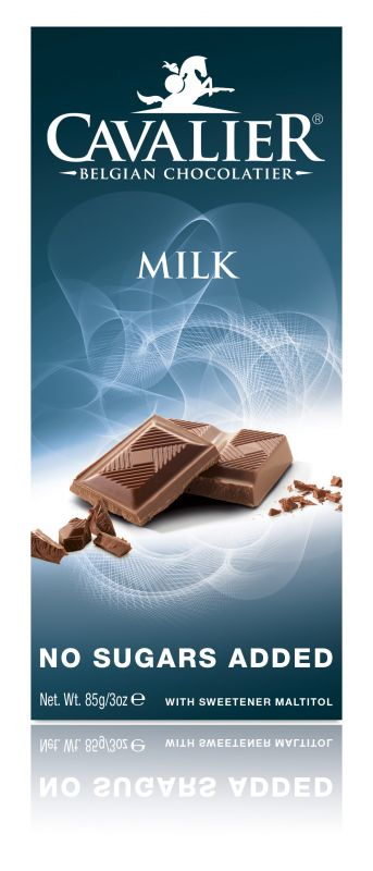 Cavalier Milk Chocolate No Added Sugar Bar 85g x 14