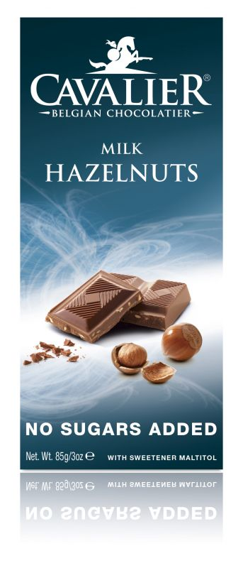 Cavalier Milk Hazelnut Chocolate No Added Sugar Bar 85g x 14