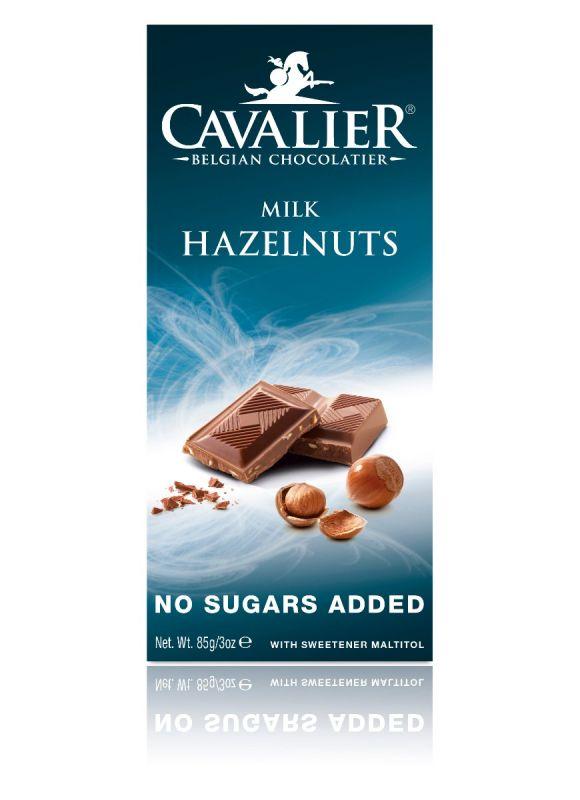Cavalier Milk Hazelnut Chocolate No Added Sugar Bar 85g x 14